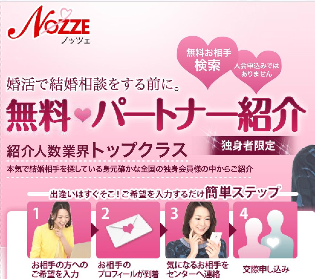 ノッツェ「無料パートナー紹介」を利用するための簡単ステップ