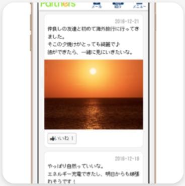 「日記・つぶやき」機能のイメージ画面