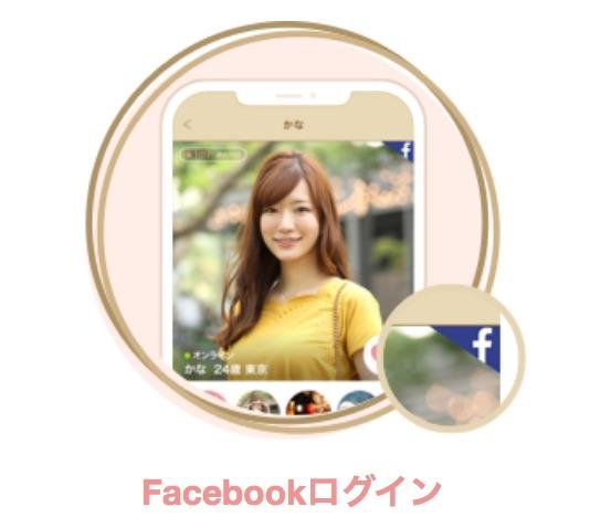 Facebookでのログイン画面