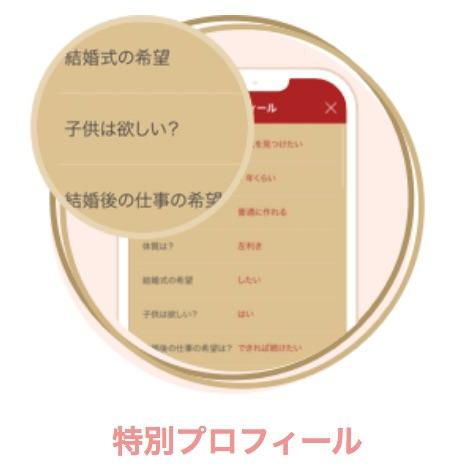 特別プロフィールのページ