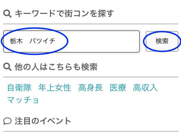 「栃木のバツイチ」検索画面イメージ-1