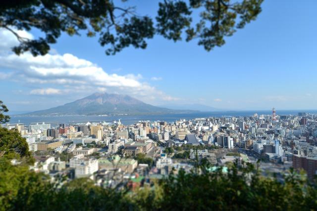 城山展望台から臨む桜島