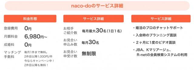 naco-doにおけるサービス内容の詳細