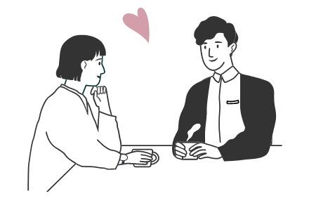 「ラブラブカップル」のイメージ