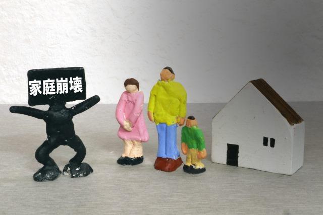 家庭崩壊のイメージ