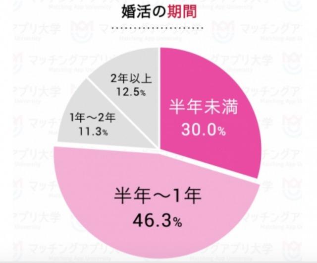 婚活期間の円グラフ