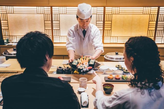 お寿司屋デート