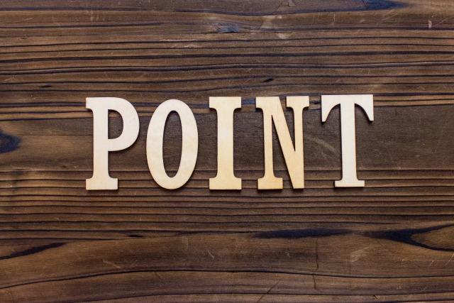 POINTと書かれた板
