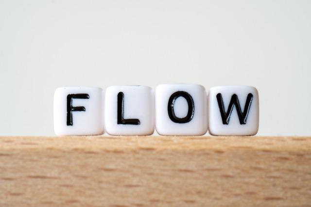 FLOWと書かれた文字素材
