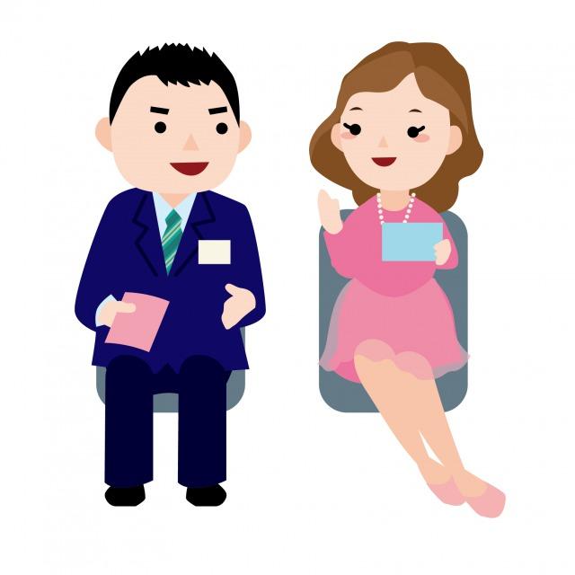 一対一式婚活パーティーのイメージ