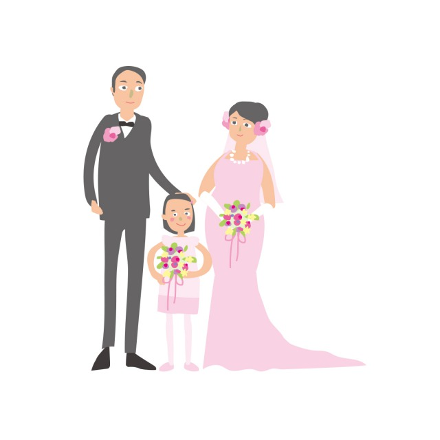 子連れ再婚のイメージイラスト