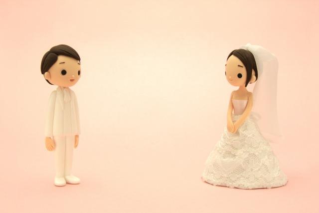 花嫁、花婿の人形
