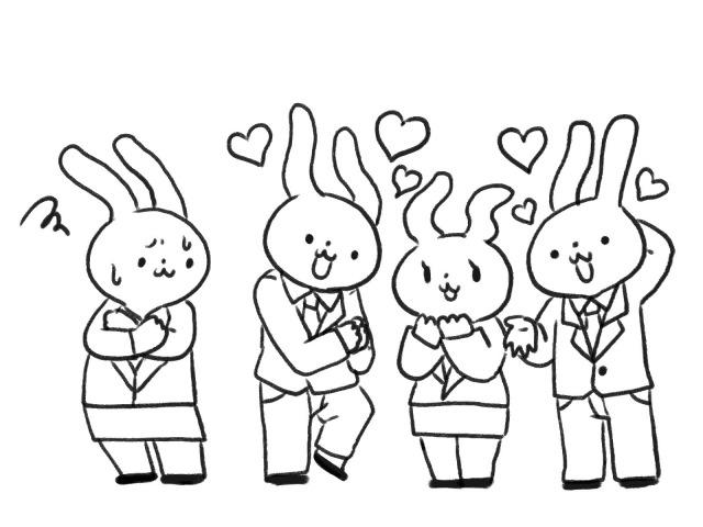 多くのウサギ男性からモテるウサギ女性