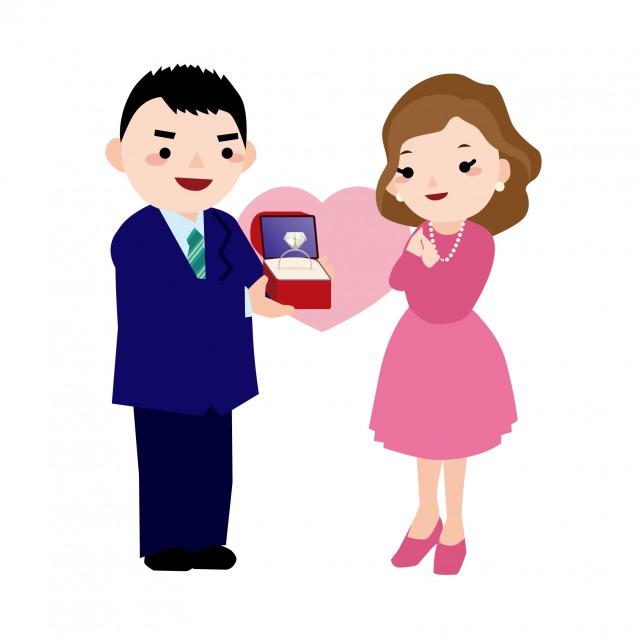 男性にプロポーズされる女性