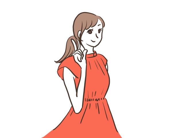 何かを提案する女性のイラスト