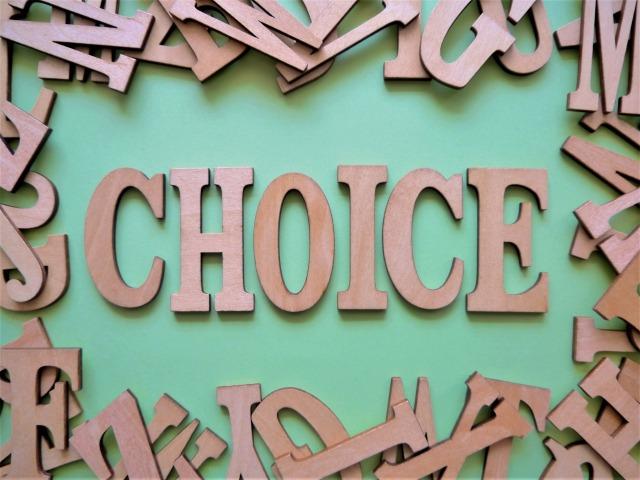 デザインされた「CHOICE」の文字