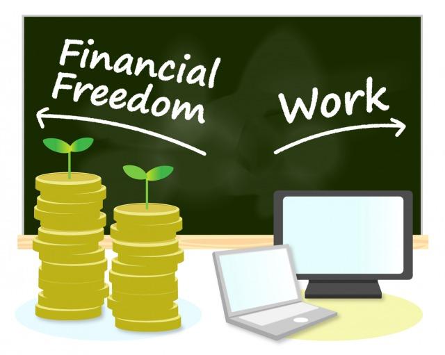 「お金と仕事の2つ自活力」を持つイメージ