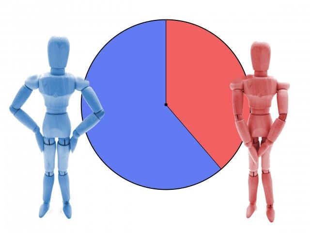 男女割合のイメージ
